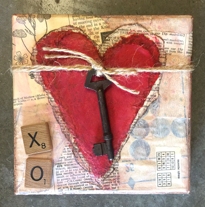 Canvas Heart | Handmade Valentine Idea