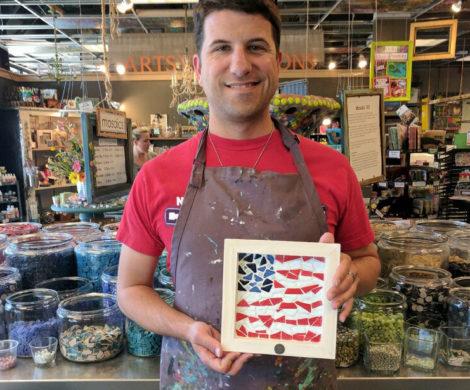 Customer Made Mosaic Flag
