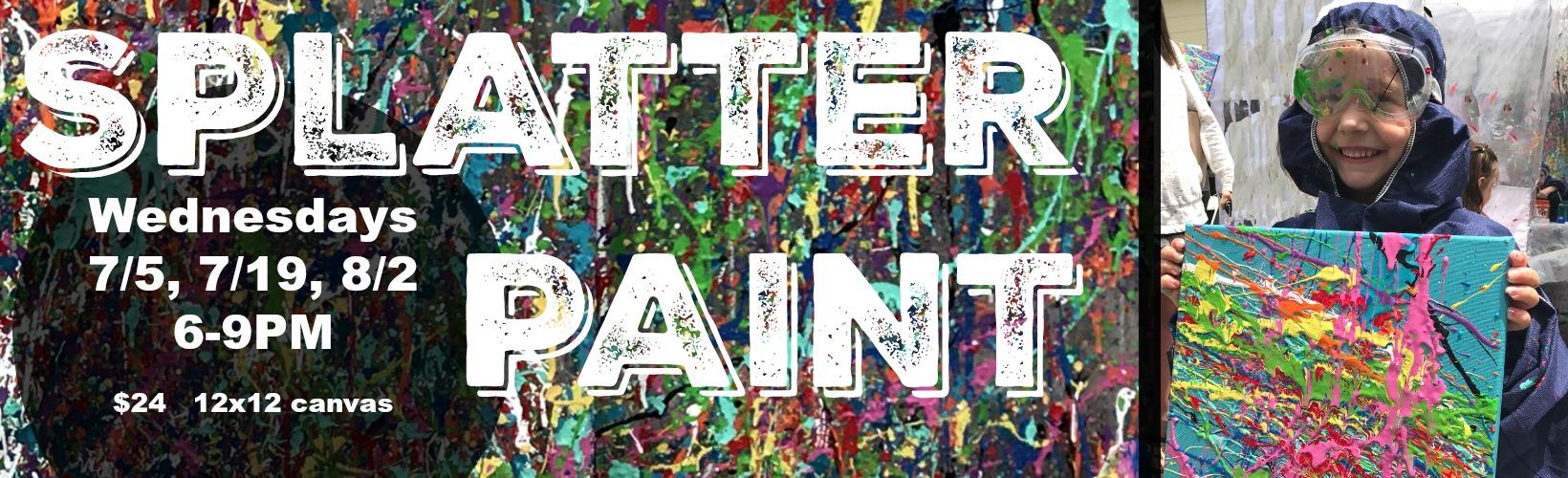 splatter paint wednesdays