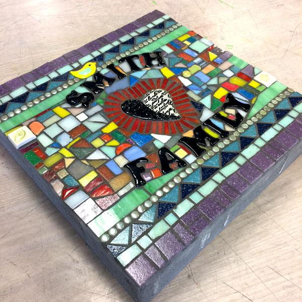 Mosaic Garden Stone