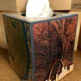 DIY Vacation Art Decoupage Tissue Box