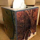 DIY Vacation Art Decoupage Tissue Box