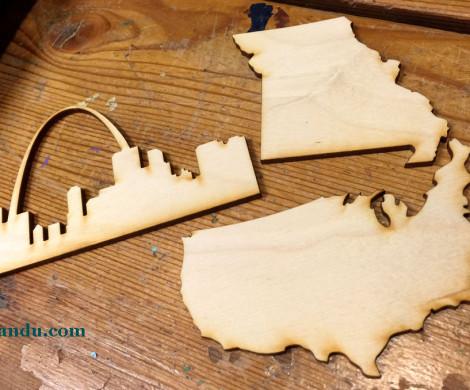 Wood Cut DIY Vacation Art