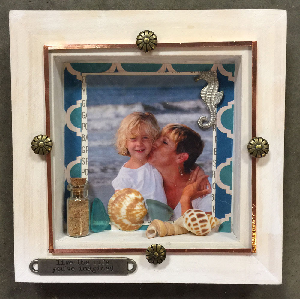 DIY Vacation Art Beach Photo Frame