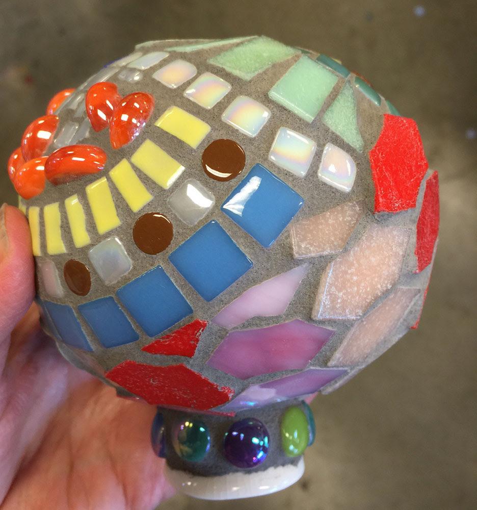 Mosaic Gazing Ball Garden Art Yucandu Art Studio