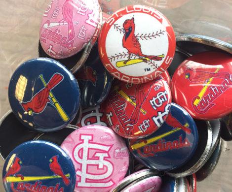 Cardinals Tin Pins