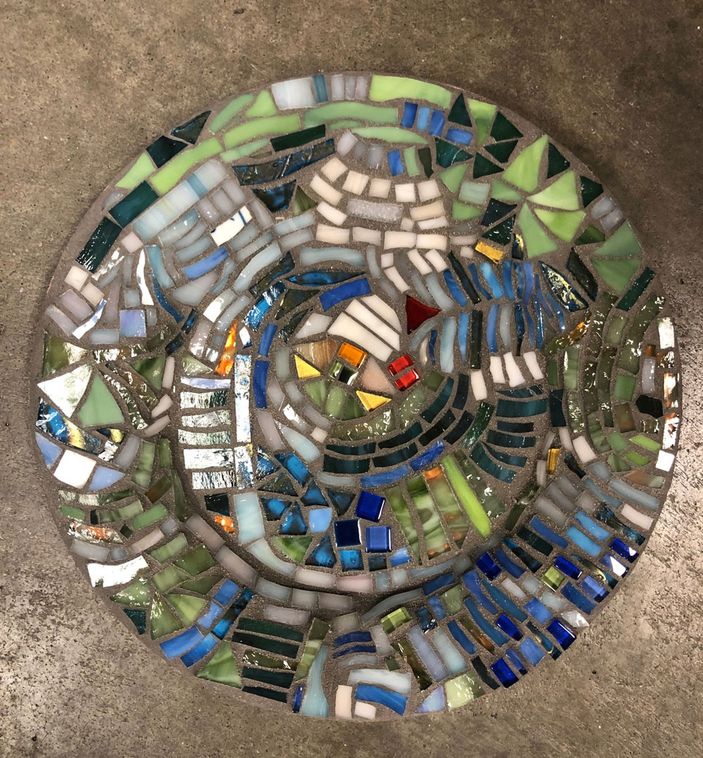 Mosaic Copper Plate