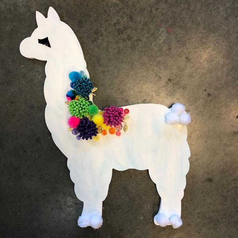 XL Llama Plaque