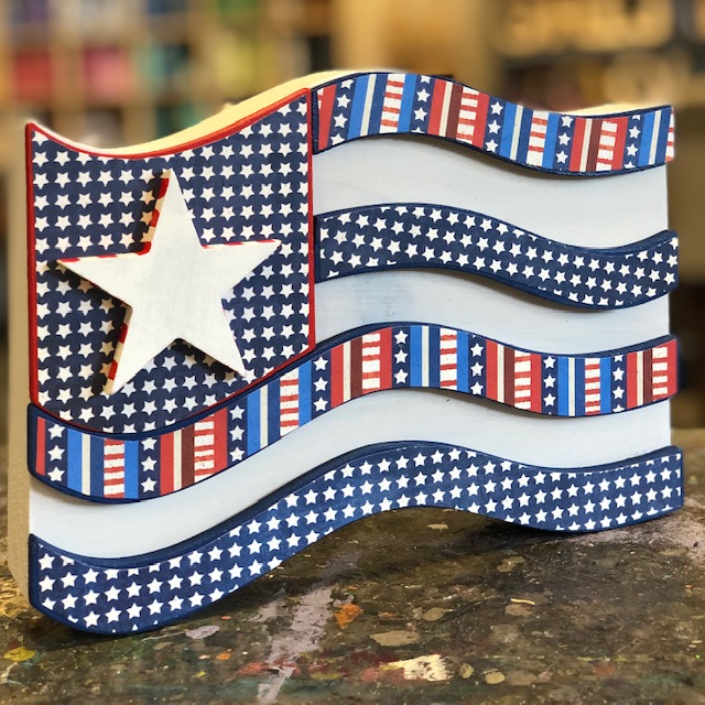 Decoupage Flag