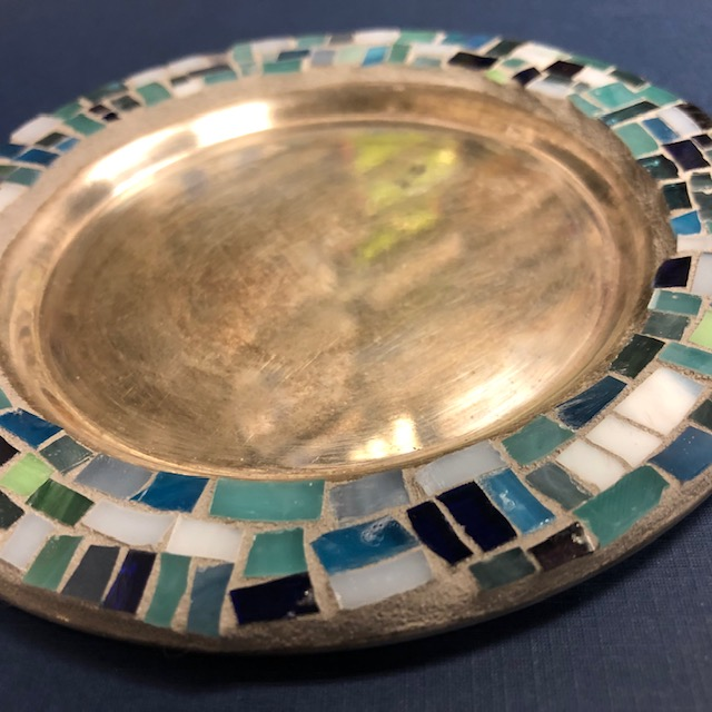 Mosaic Silver Small Plate