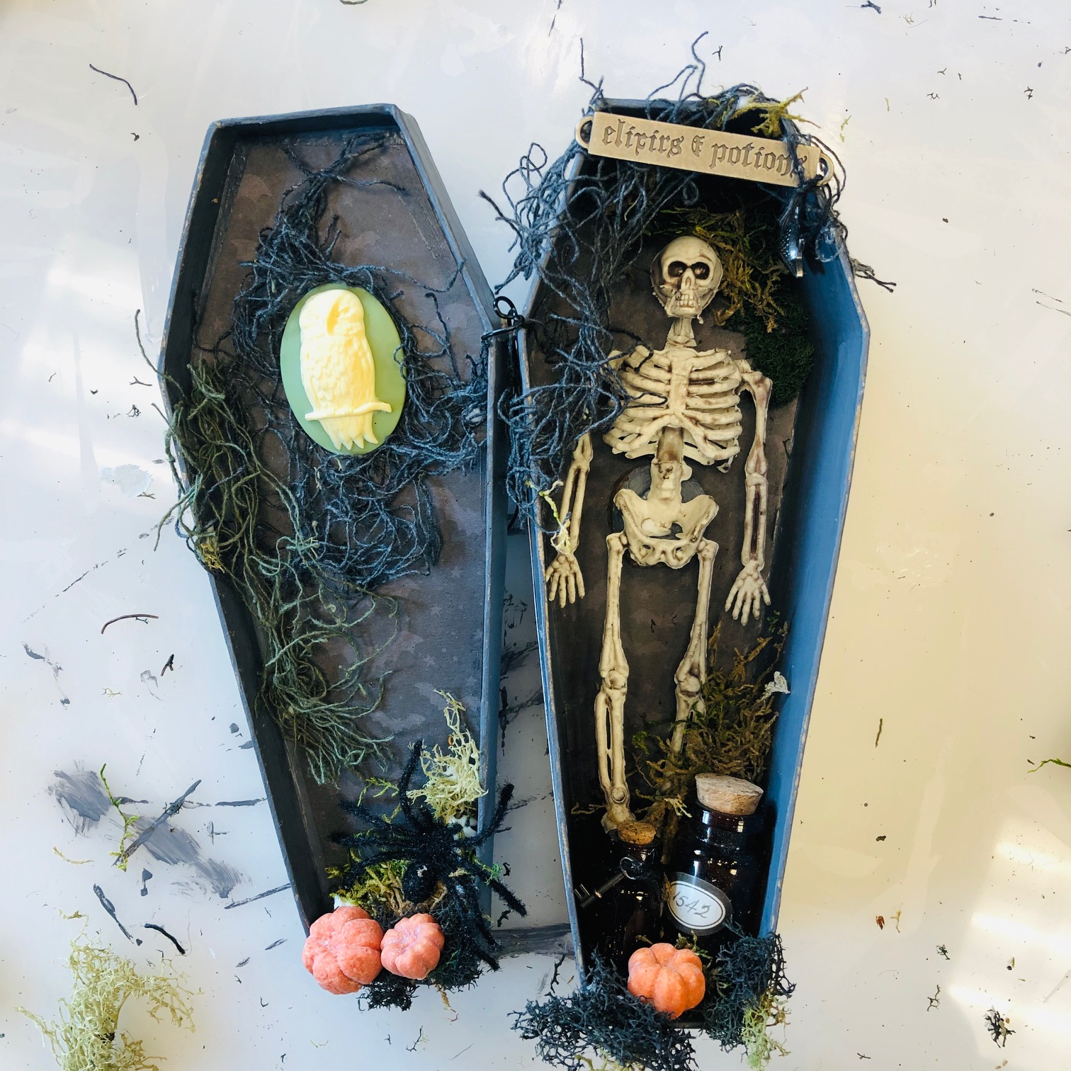 Halloween Coffin Diorama Project