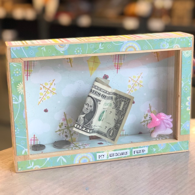 Decoupaged Bank