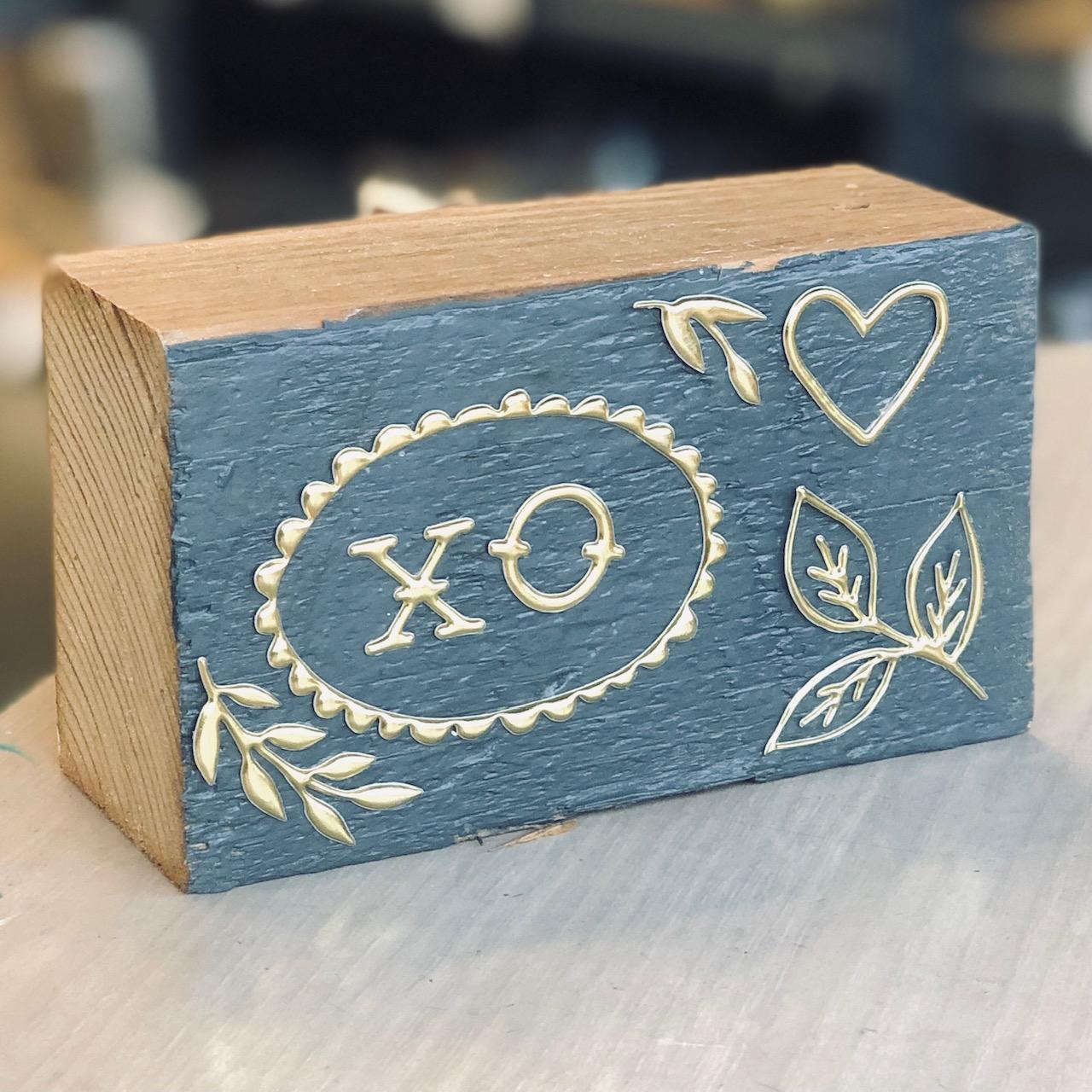 Vintage Valentine Block