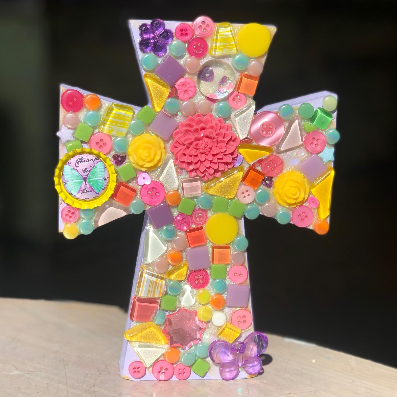 Thick Mosaic Cross